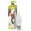 Лампа светодиодная LED-Свеча на ветру-Standard 5Вт 160-260В Е27 3000К 450Лм ASD