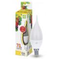 Лампа светодиодная LED-Свеча на ветру-Standard 7.5Вт 160-260В Е14 3000К 675Лм ASD
