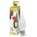 Лампа светодиодная LED-Свеча на ветру-Standard 7.5Вт 160-260В Е27 3000К 675Лм ASD