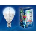 Лампа светодиодная шар Uniel Palazzo LED-G45-6W/NW/E14/FR/DIM ALP01WH 600Lm 4500K 40-250V Диммируемая