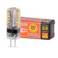 """Светодиодная лампа Wolta """"Капсуль"""" G4 мощностью 2,5 Вт нейтрального свечения - Аналог галогеновой лампы 20 Вт"""