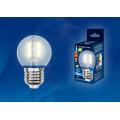 Лампа светодиодная шар Uniel Sky LED-G45-6W/WW/E27/FR PLS02WH 500Lm 3000K 200-250V