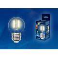 Лампа светодиодная шар Uniel Sky LED-G45-6W/WW/E27/CL PLS02WH 500Lm 3000K 200-250V