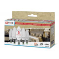 Лампа светодиодная (упаковка 5 шт.) LED-Свеча-ECO 5Вт 230В E14 4000К 375Лм IN HOME