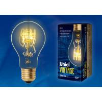 Лампа накаливания Uniel серия VINTAGE ЛОН A60 60W E27 форма нити SW