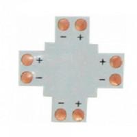 X Коннектор для светодиодной ленты 3528 8мм без провода