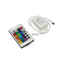 Контроллер для светодиодной ленты rgb IR с пультом 20 кнопок 12в 6А