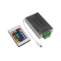 Контроллер для светодиодной ленты rgb IR с пультом 20 кнопок 12в 12А