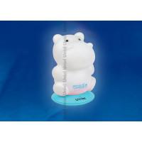 Ночник светодиодный аккумуляторный DTL-305-Бегемотик/3color на голубой подставке