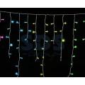 Гирлянда Айсикл (бахрома) светодиодная IP20, 1,8 х 0,5 м, прозрачный провод, 220В (Для помещения, цвет в ассортименте)