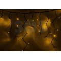Гирлянда Айсикл (бахрома) светодиодная IP54, 4 х 0,6 м, черный провод, 128 диодов, 220В (Для улицы и помещения, цвет в ассортименте)