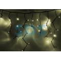 Гирлянда Айсикл (бахрома) светодиодная IP54, 5,6 х 0,9 м, Теплое белое свечение, черный провод, 240 диодов, 220В (Для улицы и помещения)