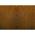 Гирлянда Светодиодный Дождь (Занавес) IP44, 2х3м, Желтое свечение, прозрачный провод, 220В (Для помещения и улицы)