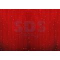 Гирлянда Светодиодный Дождь (Занавес) IP44, 2 х 1,5 м, Красное свечение, прозрачный провод, 220В (Для помещения и улицы)