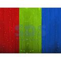 Гирлянда Светодиодный Дождь (Занавес) IP44, 2 х 2 м, Свечение с динамикой, свечение Мультиколор, прозрачный провод, 220В (Для помещения)