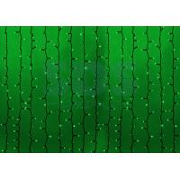 Гирлянда Светодиодный Дождь (Занавес) IP54, 2х3м, черный провод, 220В (Для помещения и улицы, цвет в ассортименте)
