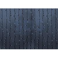 Гирлянда Светодиодный Дождь (Занавес) IP54, 2х9м, Белое свечение, черный провод, 220В (Для помещения и улицы)