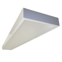 Офисный светодиодный потолочный светильник SENAT накладной 36W 3550Lm 5000К 1200х180х40мм Микропризма