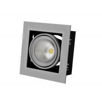 Встраиваемый карданный поворотный светодиодный светильник Grazioso 1 LED 30 clean Серебристый 2059Lm 4000K