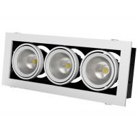 Встраиваемый карданный поворотный светодиодный светильник Grazioso 3 LED 3x30 clean Серебристый 5361Lm 3000K