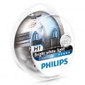 Комплект автомобильных ламп Philips CrystalVision H1 12V 55Вт 12258CVSM (2 шт. + 2 лампы W5W)
