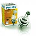 Лампа головного освещения галогеновая Philips Vision (Premium) H4 60/55Вт (+30%) 12342PRC1
