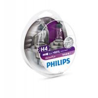 Комплект ламп - галогенная philips vision plus H4 12342VPS2