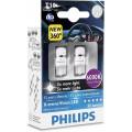 Светодиодная сигнальная лампа Philips X-tremeVision LED T10 6000К 127996000KX2 для салона и сигналов