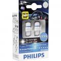 Светодиодная автомобильная лампа Philips X-tremeVision LED T10 8000К 127998000KX2 для салона и сигналов