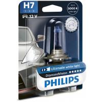Лампа головного света Philips H7 Diamond Vision 12V 55Вт 12972DVB1