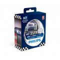 Лампа головного света Philips RacingVision H7 55Вт (+150%) 12972RVS2 (комплект)