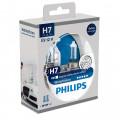 Комплект автомобильных ламп Philips WhiteVision H7 55Вт 12972WHVSM (габаритные лампы в наборе)