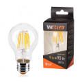 Лампа светодиодная WOLTA FILAMENT 9Вт Е27 3000К 880Лм прозрачная