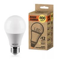 Светодиодная лампа Wolta A60 мощностью 12 Вт теплого свечения - Аналог лампы накаливания 100 Вт