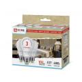 Лампа светодиодная (упаковка 3 шт.) LED-A60-ECO 10Вт 230В Е27 4000К 800Лм IN HOME