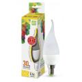 Лампа светодиодная LED-СВЕЧА НА ВЕТРУ-standard 3.5Вт 230В Е14 3000К 320Лм ASD
