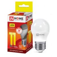 Лампа светодиодная LED-ШАР-VC 11Вт 230В Е27 3000К 820Лм IN HOME - серия VISION CARE