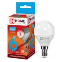 Лампа светодиодная LED-ШАР-VC 6Вт 230В Е14 4000К 480Лм IN HOME - серия VISION CARE