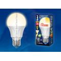 Лампа светодиодная Uniel Palazzo LED-A60-11W/WW/E27/FR/DIM PLP01WH 1100Lm 3000K 40-250V Диммируемая