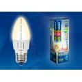 Лампа светодиодная свеча Uniel Palazzo LED-C37-6W/WW/E27/FR/DIM ALP01WH 560Lm 3000K 40-250V Диммируемая