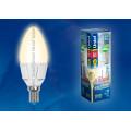 Лампа светодиодная свеча Uniel Palazzo LED-C37-6W/WW/E14/FR/DIM ALP01WH 560Lm 3000K 40-250V Диммируемая