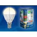 Лампа светодиодная шар Uniel Palazzo LED-G45-6W/WW/E14/FR/DIM ALP01WH 600Lm 3000K 40-250V Диммируемая