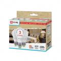 Лампа светодиодная (упаковка 3 шт.) LED-A60-ECO 8Вт 230В Е27 4000К 640Лм IN HOME