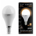 Лампа светодиодная шар Gauss LED 6,5W E14 2700K 610Lm 220V EB105101107