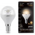 Лампа светодиодная шар Gauss LED 4W E14 2700K 350Lm 220V Clear EB105201104