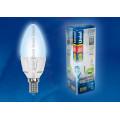 Лампа светодиодная свеча Uniel Palazzo LED-C37-6W/NW/E14/FR ALP01WH 560Lm 4500K 175-265V