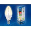Лампа светодиодная свеча Uniel Palazzo LED-C37-6W/wW/E14/FR ALP01WH 560Lm 3000K 175-265V