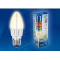 Лампа светодиодная свеча Uniel Palazzo LED-C37-6W/WW/E27/FR ALP01WH 560Lm 3000K 175-265V