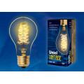 Лампа накаливания Uniel серия VINTAGE груша A60 40W E27 форма нити CW золотистая