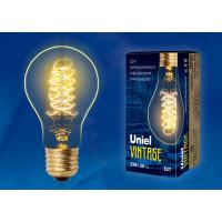 Лампа накаливания Uniel серия VINTAGE ЛОН A60 40W E27 форма нити CW